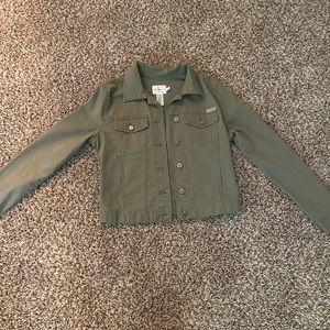 Calvin Klein Green Jean jacket Size:S